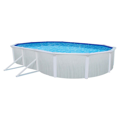 Swimming Pools - Interline Stahlwandbecken Aruba Oval 7.3 X 3.6 M, 53130003
