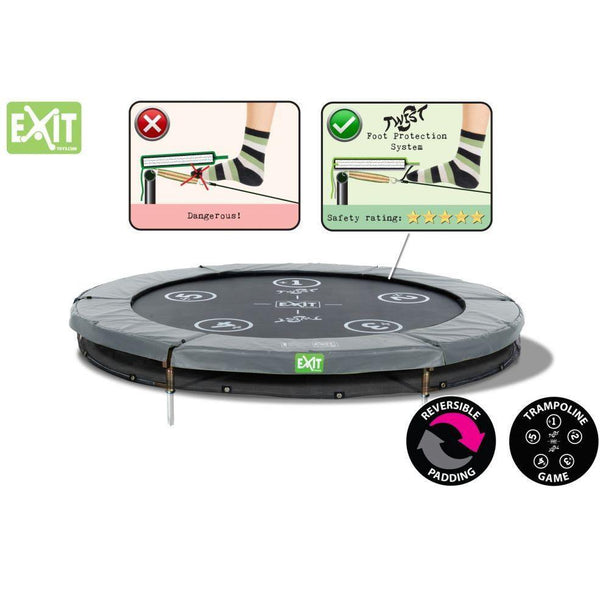 18146553, Exit Trampolin Twist Ground 183 (6ft) rosa/grau, 12.62.06.01 - Gardenluxus