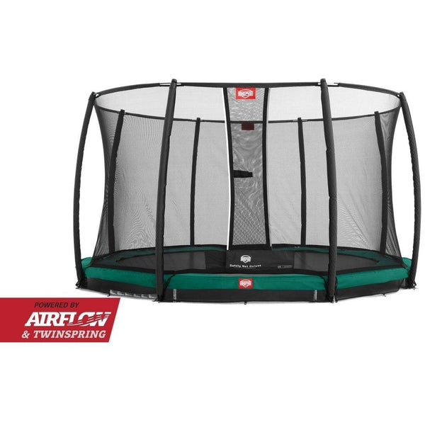 BERG InGround Trampolin Champion 380+Sicherheitsnetz Deluxe,35.42.05.01 - Gardenluxus