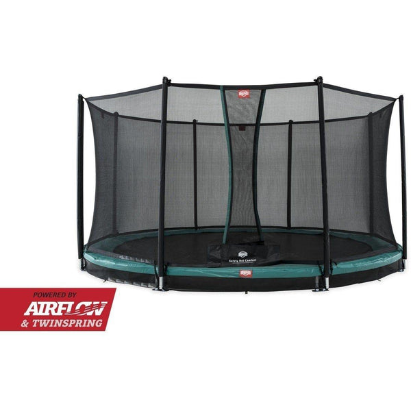 BERG InGround Trampolin Champion 430+Sicherheitsnetz Comfort,35.44.09.01 - Gardenluxus