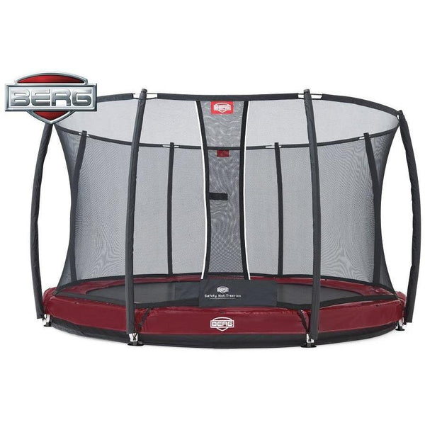 BERG Trampolin InGround Elite Rot 380 Sicherheitsnetz Deluxe,37.92.00.00 - Gardenluxus