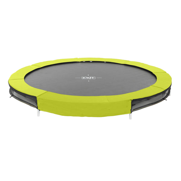 Trampolin - EXIT Silhouette Bodentrampolin 244 Lime-Green, 12.94.08.40
