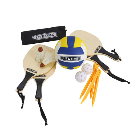 Volleyball - Lifetime Sportnetz 3 In 1 Volleyball/Badminton/Pickleball, 90541