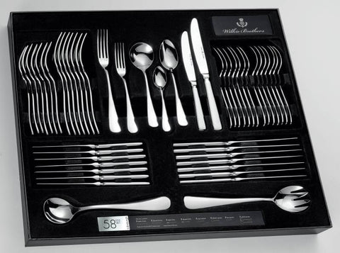 Wilkie Brothers 58 piece Cutlery Set