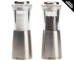 CrushGrind Stainless Steel and Acrylic Salt & Pepper Mills