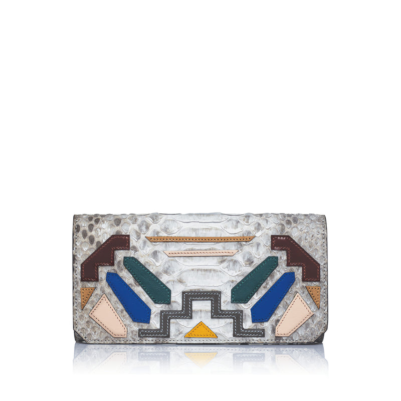 ETIENNE CONTINENTAL WALLET | WHITE RAINBOW