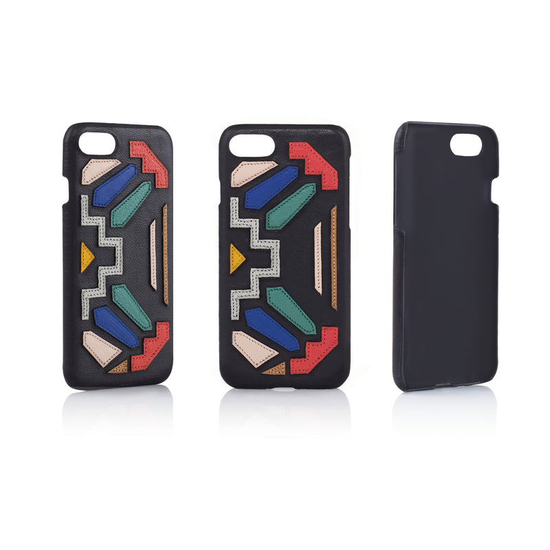 ETIENNE PHONE CASE | BLACK RAINBOW