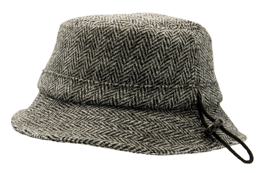 Bucket hat - Ian Sr. Harris Tweed Black - CTH Ericson of Sweden