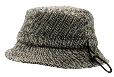 Bucket hat - Ian Sr. Harris Tweed Black - CTH Ericson