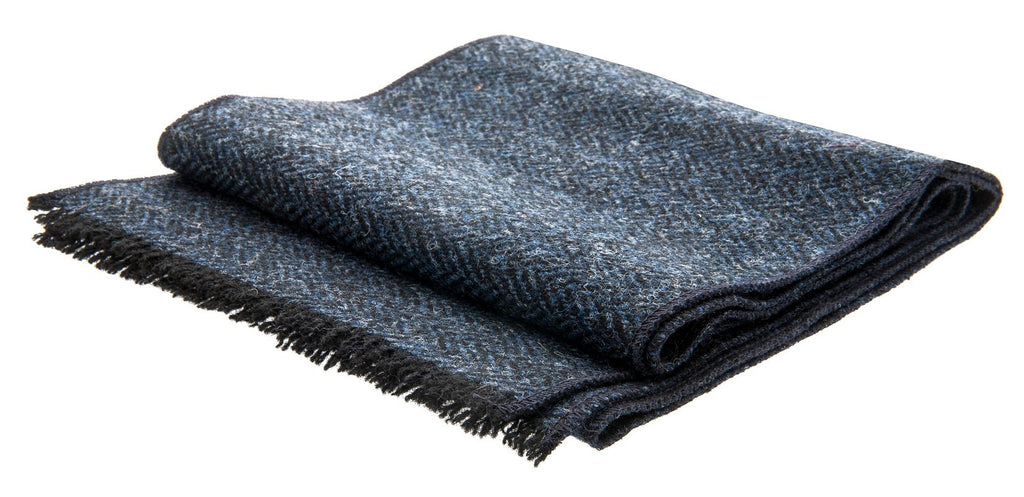 Scarf - Edgar Sr. Harris Tweed Blue - CTH Ericson of Sweden