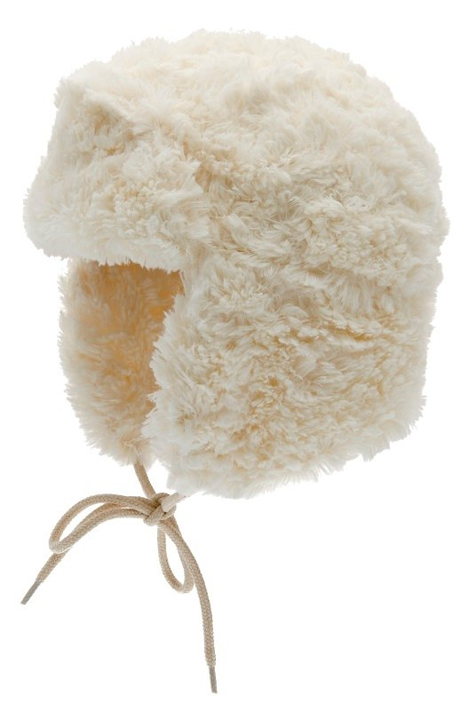 Faux Fur hat - Estrid Jr. Curls off-white - CTH MINI