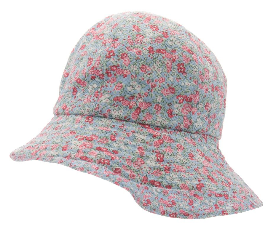 Sun hat - Bianca Jr. Fiori Blue - CTH MINI