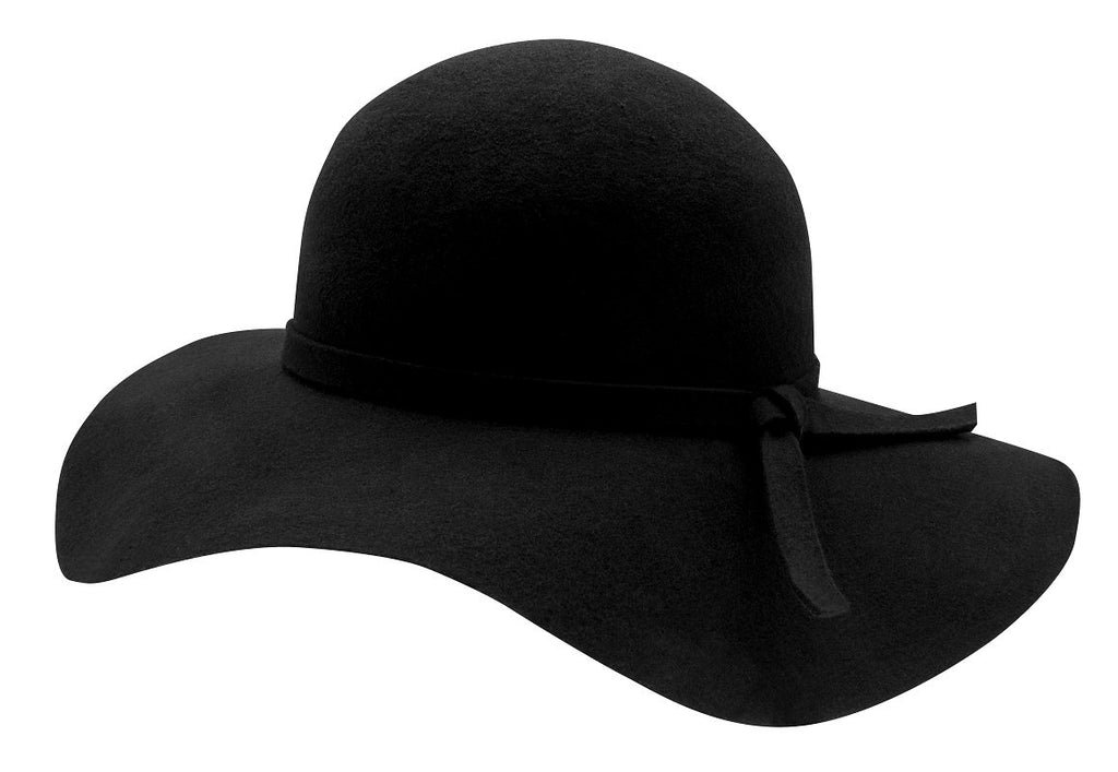 Amy Sr. Floppy felt hat Black