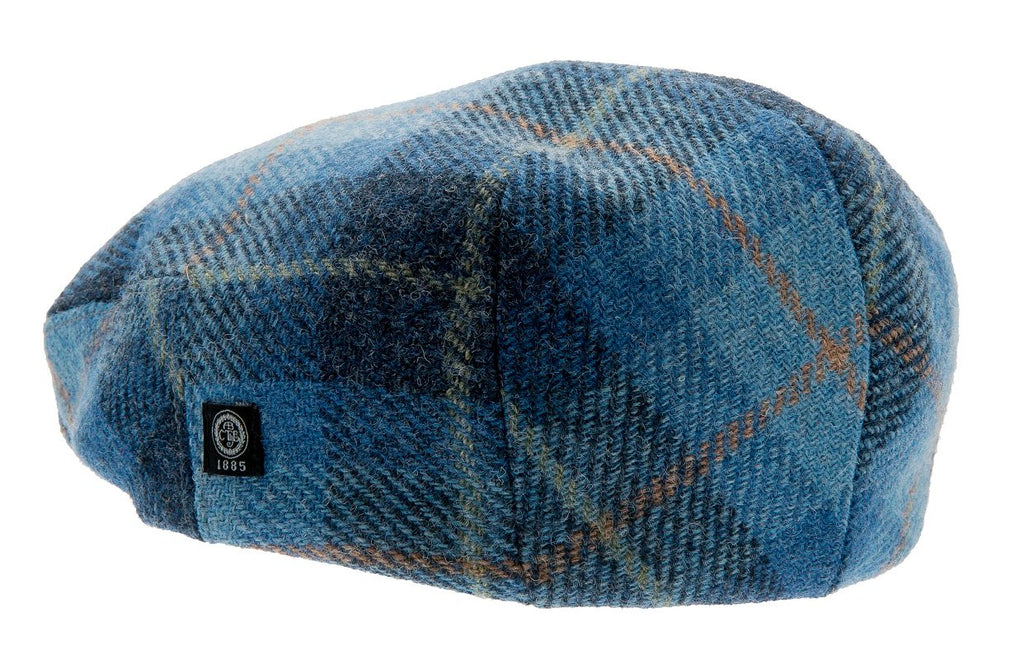 Flat cap - Edward Sr. Harris Tweed Plaid Blue - CTH Ericson