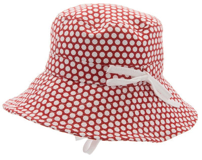 Kids Bucket hat - Henry Jr. Large Dots Red - CTH MINI