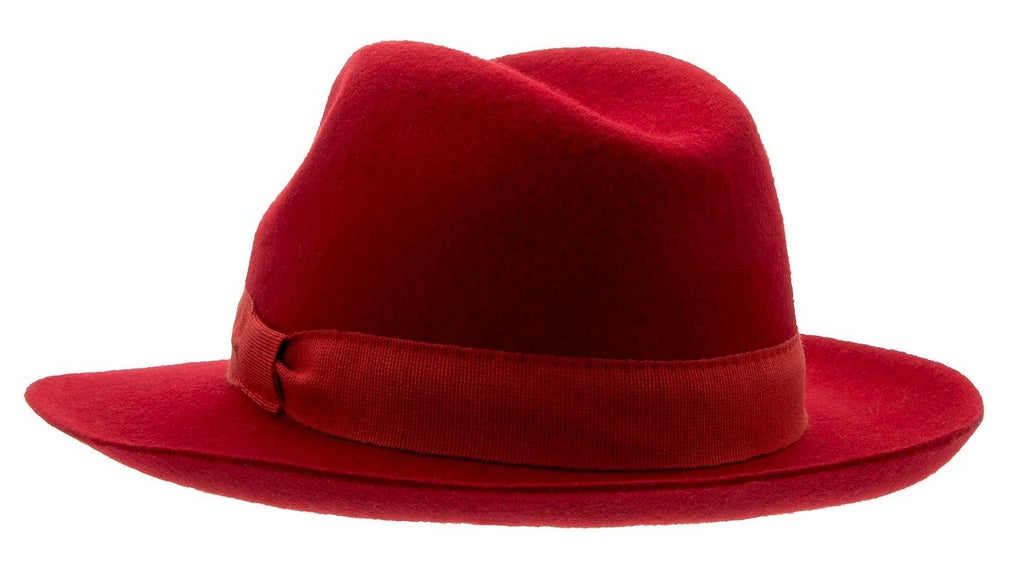 Felt hat - Aria Sr. Fedora felt hat Red - CTH Ericson of Sweden