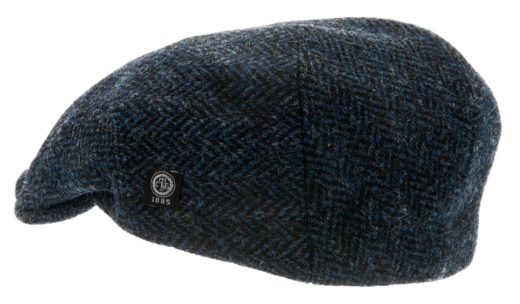 Flat cap - Edward Sr. Harris Tweed Blue - CTH Ericson of Sweden