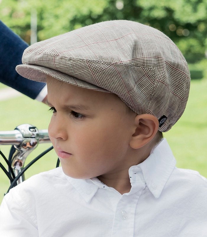 Kids Flat cap - Elton Jr. Estate Brown - CTH MINI