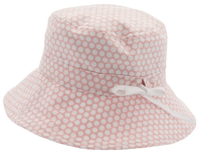 Kids Bucket hat - Henry Jr. Large Dots Pale Pink - CTH MINI