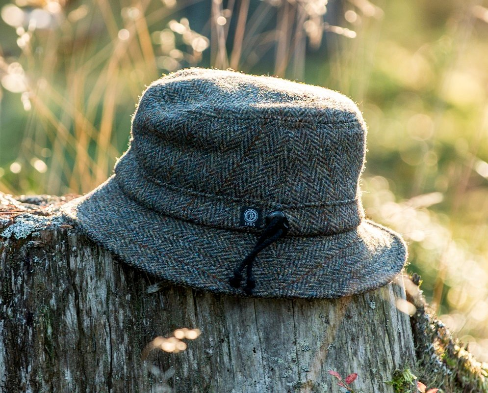 Bucket hat - Ian Sr. Harris Tweed Green - CTH Ericson of Sweden