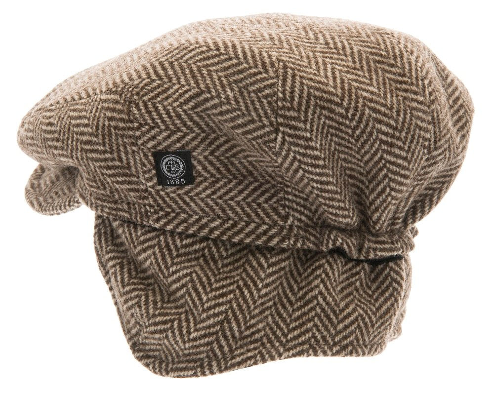 Flat cap - Carl Jr. Eco Wool Brown - CTH MINI
