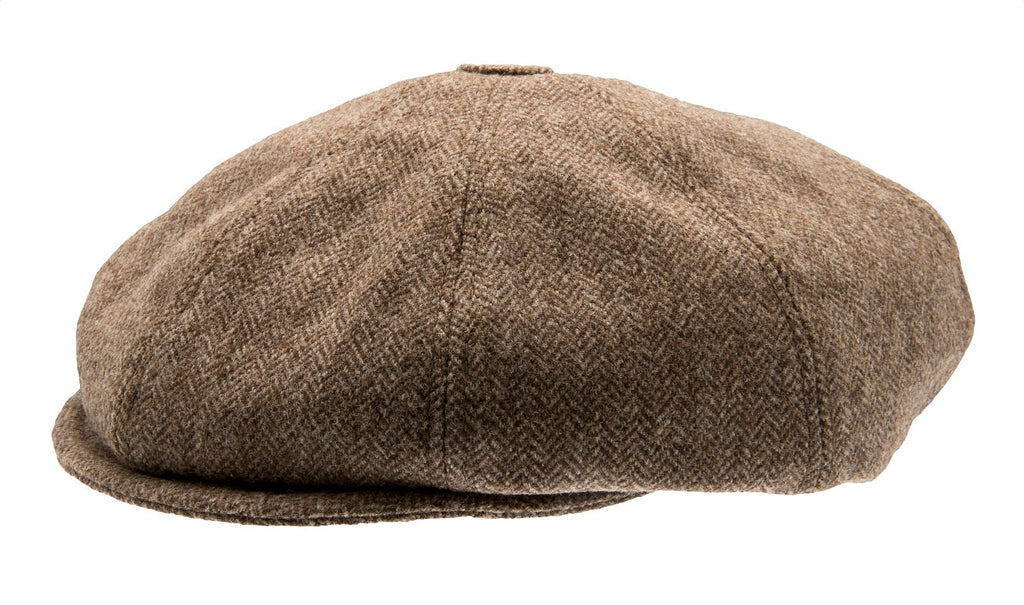 Kids Newsboy cap - Theodor Jr. Herringbone Brown - CTH MINI