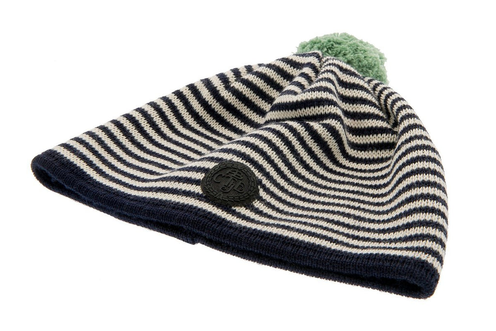 Beanie - Tove Jr. Knitted Striped Blue - CTH Ericson