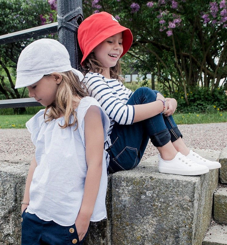 Summer cap for girls - Bella Jr. Embroidery White - CTH MINI