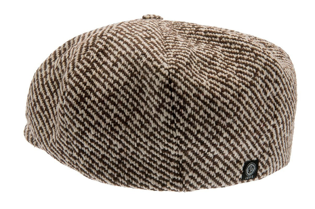 Newsboy cap - Branson Sr. Diagonal Stripe Brown - CTH Ericson
