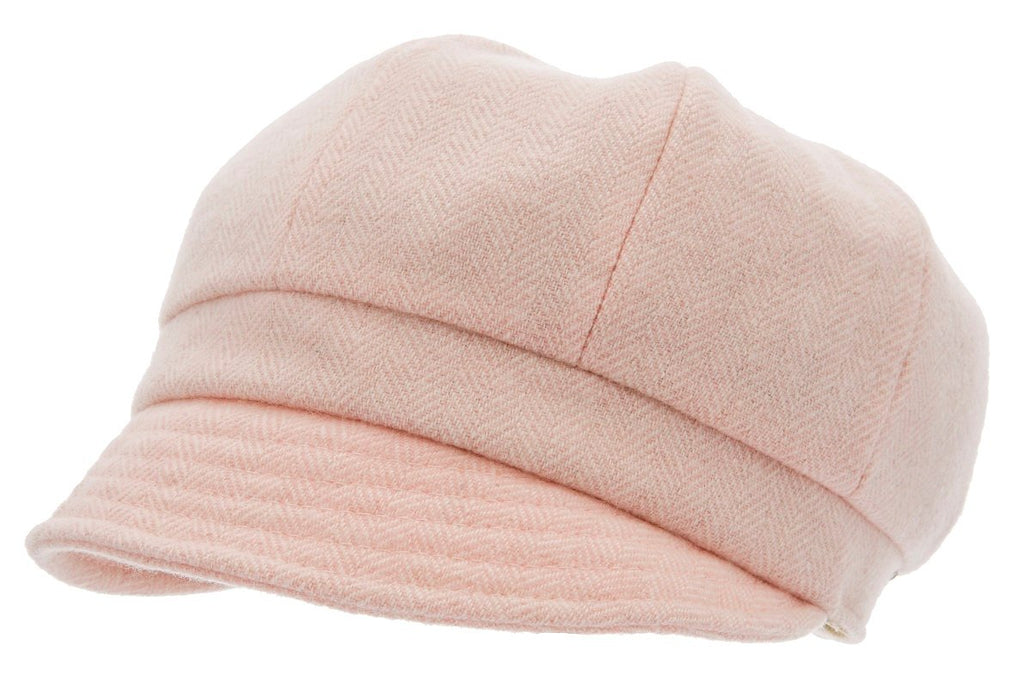 Cap for girls - Regina Jr. Herringbone Pink - CTH MINI