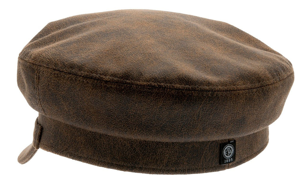 Fiddler cap - Dani Sr. Faux Leather Brown - CTH Ericson of Sweden