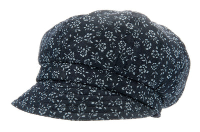 Summer cap for girls - Regina Jr. Denim Flower Blue - CTH MINI