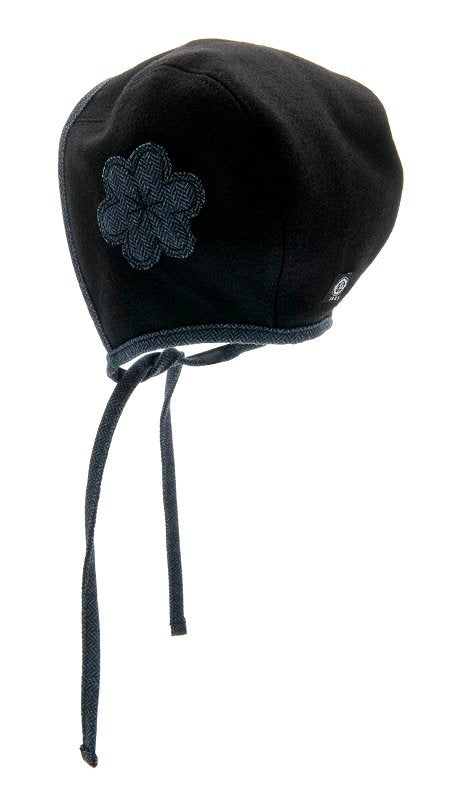 Bonnet - Esther Jr. Flower Black-Blue - CTH MINI