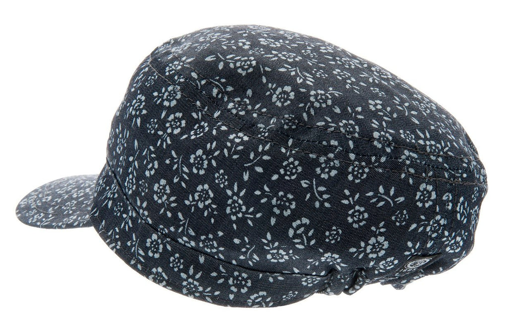 Army cap - Fabien Jr. Denim Flower Blue - CTH Ericson of Sweden