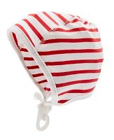 Bonnet - Jon Jr. Nautic Stripe White/Red - CTH MINI