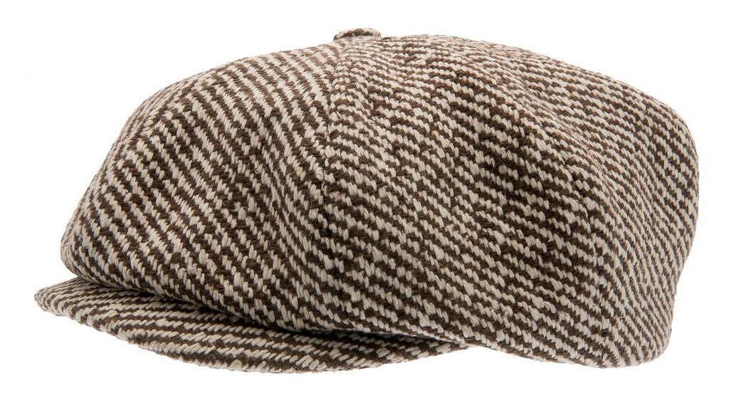 Newsboy cap - Branson Sr. Diagonal Stripe Brown - CTH Ericson of Sweden