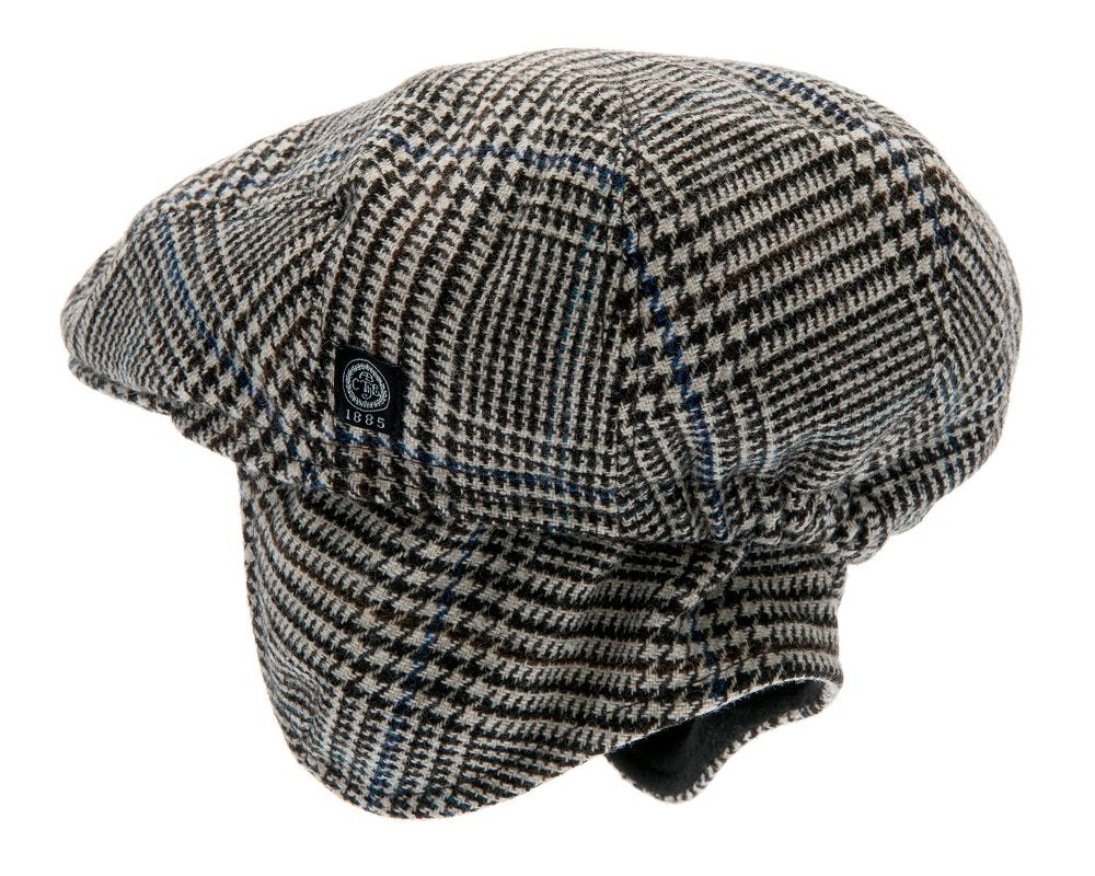 Kids Flat cap - Philip Jr. Glencheck Brown - CTH MINI