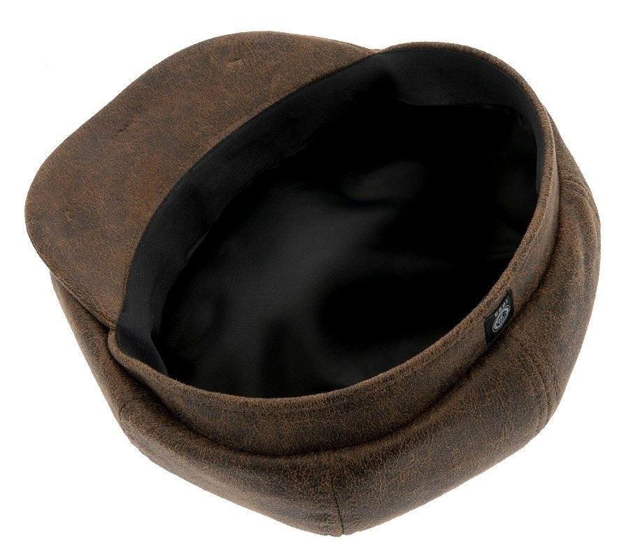 Newsboy cap - Alan Sr. Faux Leather Brown - CTH Ericson of Sweden