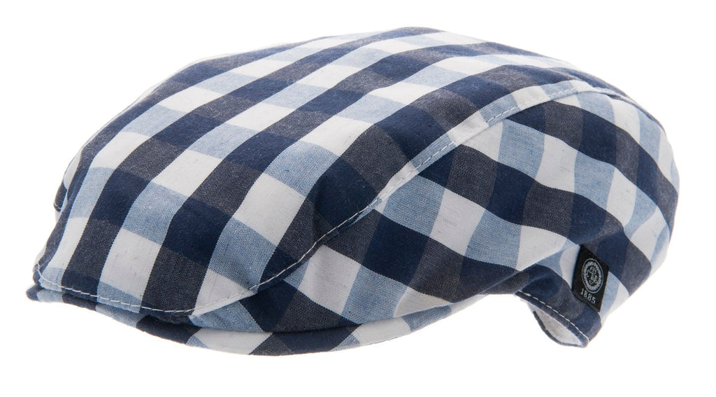 Kids Flat cap - Jens Jr. Gingham check Blue - CTH MINI