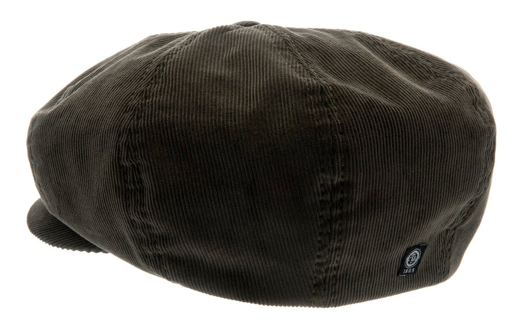 Newsboy cap - Olle Sr. Soft cord Olive - CTH Ericson of Sweden