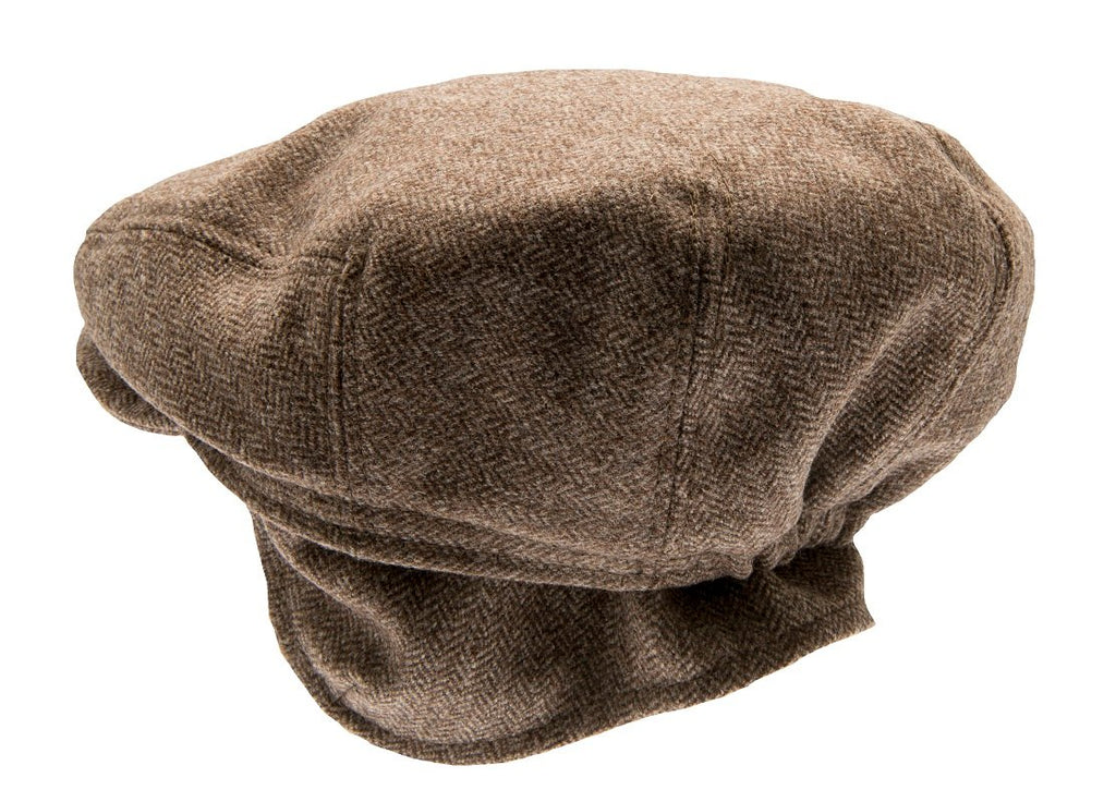 Kids Flat cap - Carl Jr. Herringbone Brown - CTH MINI