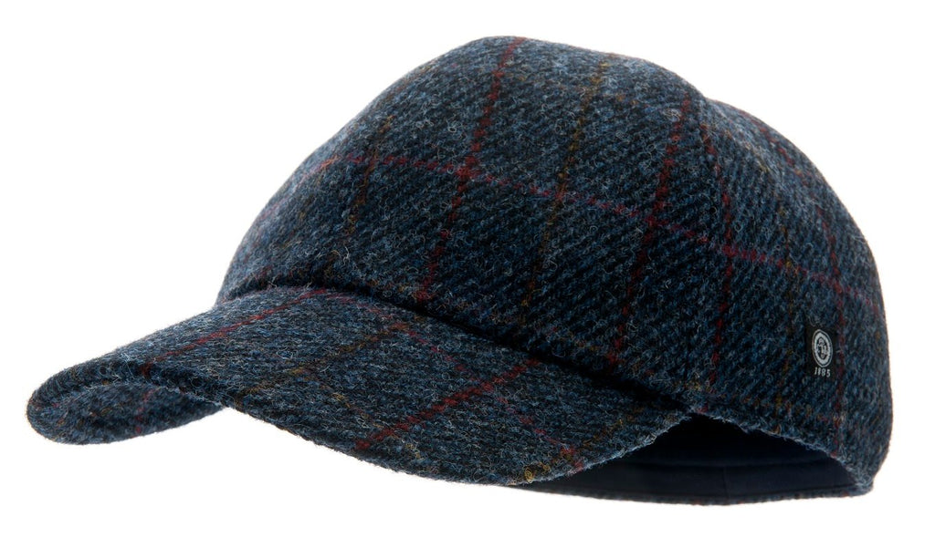 Ingvar Sr. Harris Tweed Overcheck Blue - CTH Ericson of Sweden