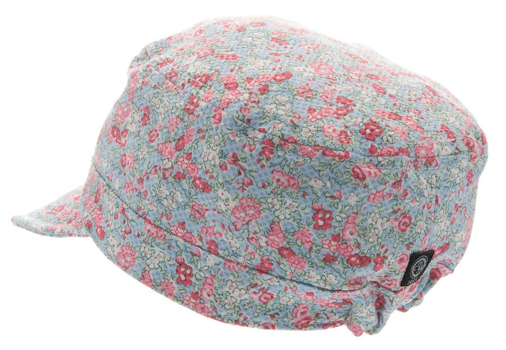 Kids Army cap - Bobo Jr. Fiori Blue - CTH MINI