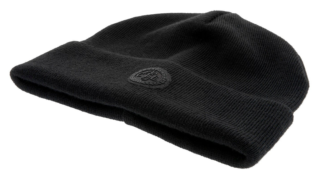 Beanie - Travis Jr. Flat knit beanie black - CTH Ericson of Sweden