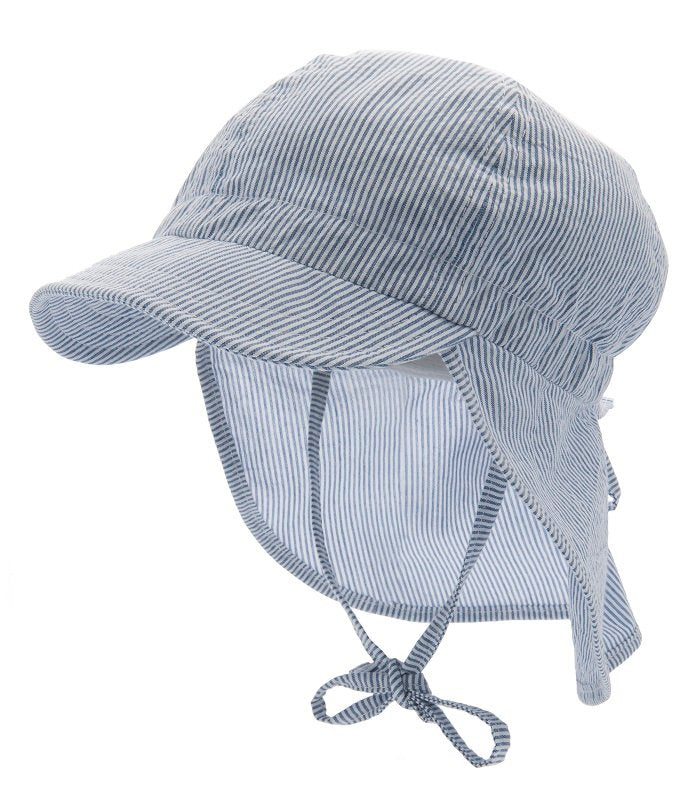 Sun hat - Freddy Jr. Seersucker Blue - CTH MINI