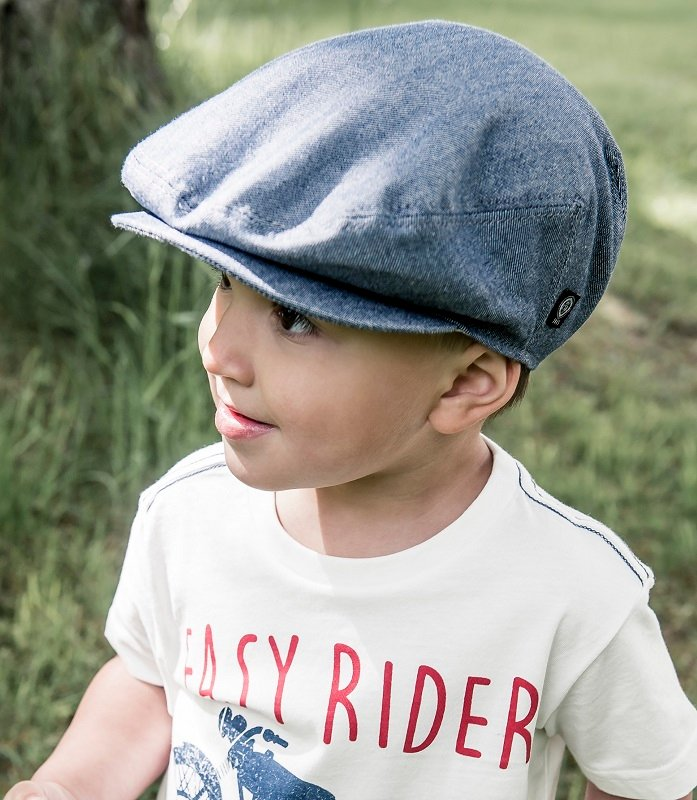 Kids Flat cap - Elton Jr. Morgado/Liberty Blue - CTH MINI