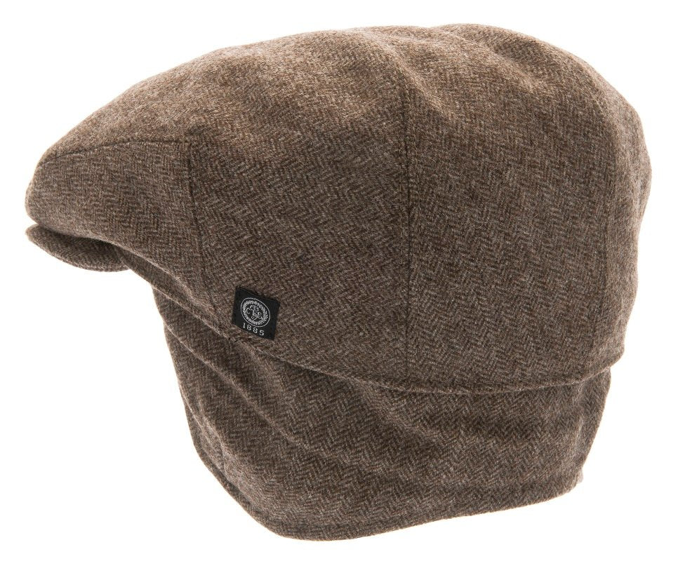 Flat cap - Carl Sr. Herringbone Brown - CTH Ericson of Sweden