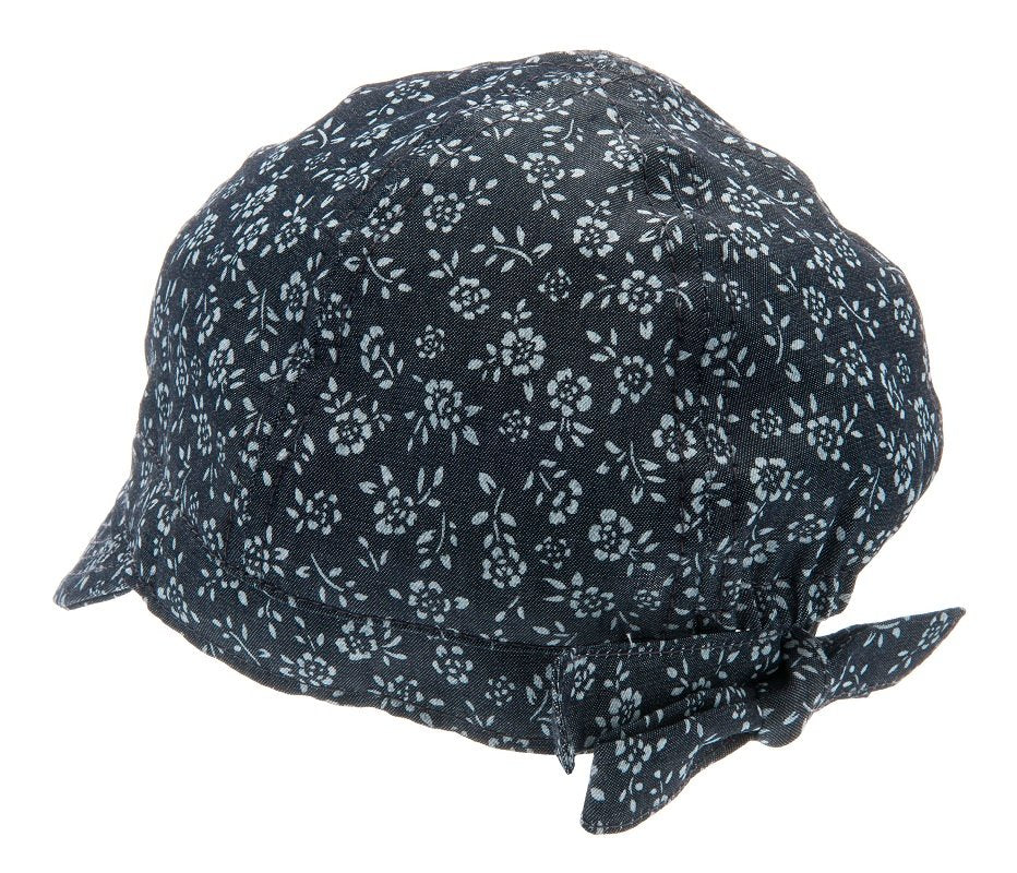 Summer cap for girls - Bella Jr. Denim Flower Blue - CTH MINI