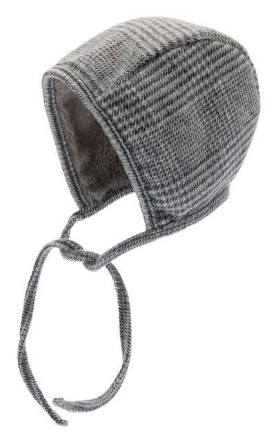 Bonnet - Esther Jr. Glencheck Blue-Grey - CTH MINI