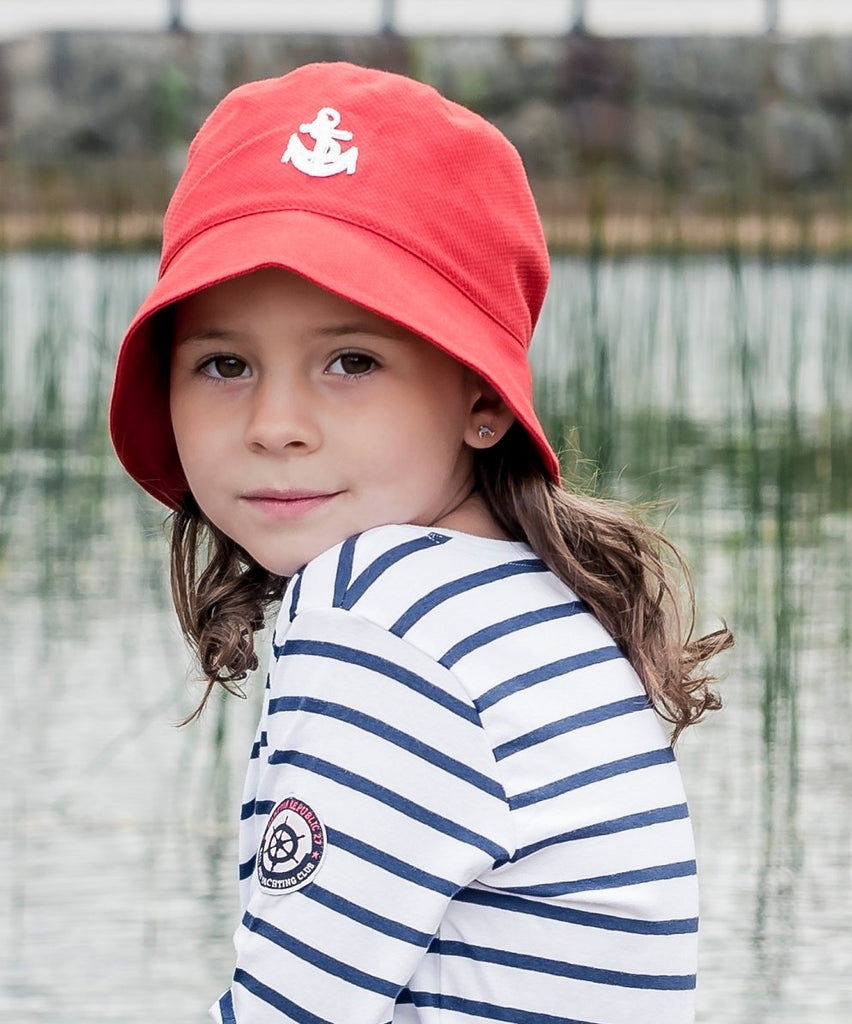 Kids Bucket hat - Jamie Jr. Pique Red - CTH MINI